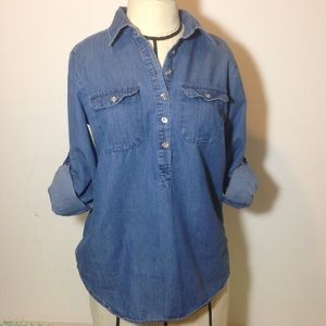 New York and Company jean shirt